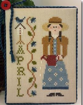 Little House Needleworks - Calendar Girls - Part 4 of 12 - April - Cross Stitch Pattern