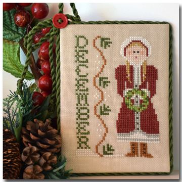 Little House Needleworks - Calendar Girls - Part 12 of 12 - December - Cross Stitch Pattern