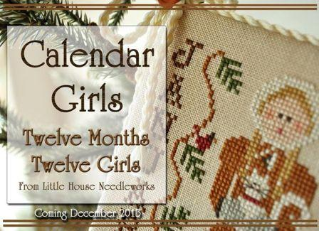 Little House Needleworks - Calendar Girls - Part 1 of 12 - January - Cross Stitch Pattern