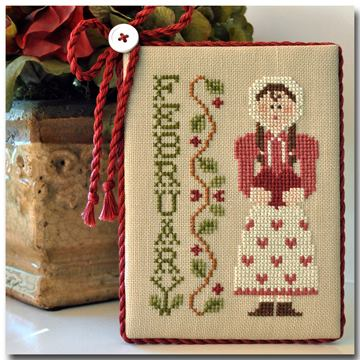 Little House Needleworks - Calendar Girls - Part 2 of 12 - February - Cross Stitch Pattern