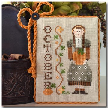 Little House Needleworks - Calendar Girls - Part 10 of 12 - October - Cross Stitch Pattern
