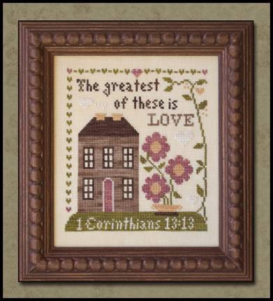 Little House Needleworks - First Corinthians - Cross Stitch Pattern