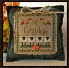 Little House Needleworks - Little Sheep Virtues - Part 11 of 12 - Gratitude - Cross Stitch Pattern