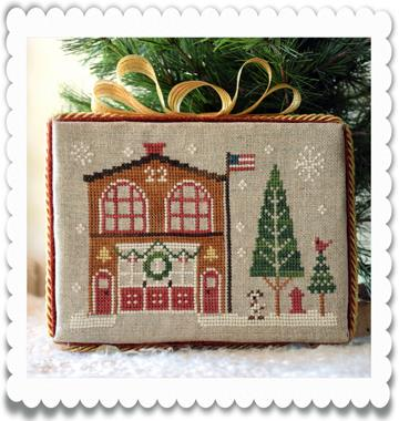 Little House Needleworks - Hometown Holiday - Part 07 - Firehouse - Cross Stitch Pattern