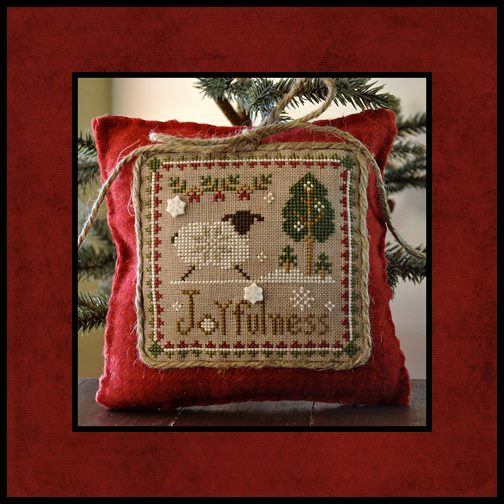 Little House Needleworks - Little Sheep Virtues - Part 12 of 12 - Joyfulness - Cross Stitch Pattern