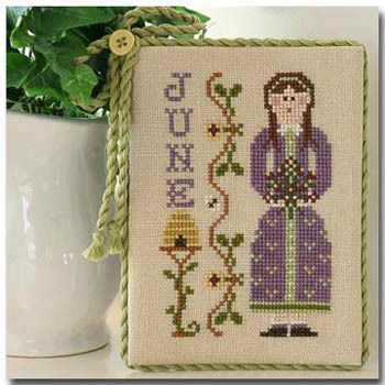 Little House Needleworks - Calendar Girls - Part 6 of 12 - June - Cross Stitch Pattern