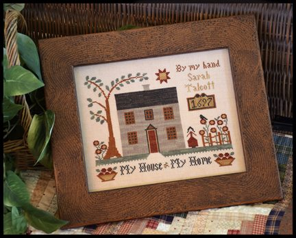 Little House Needleworks - My House - My Home-Little House Needleworks - My House - My Home, family, love, houses, neighborhood, cross stitch