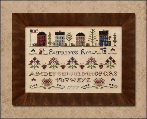 Little House Needleworks - Patriot's Row-Little House Needleworks - Patriots Row, patriotic houses, sampler, colonial americana,