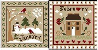 Little House Needleworks - Sampler Months - January & February Threads Packs