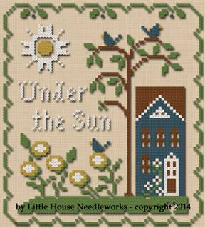 Little House Needleworks - Sun, Moon and Stars - Part 3 of 3 - Under the Sun - Cross Stitch Thread Pack
