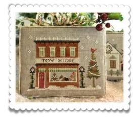 Little House Needleworks - Hometown Holiday - Part 5 - Toy Store - Cross Stitch Pattern