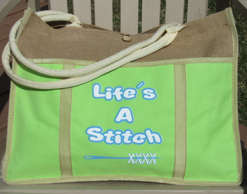 Designs by Lisa - Life's A Stitch - Tote Bag