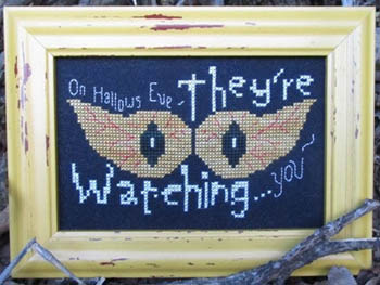 Designs by Lisa - They're Watching...  Cross Stitch Pattern