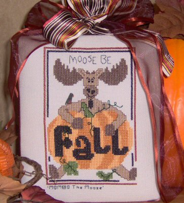 Designs by Lisa - Moose Be Fall - Cross Stitch Pattern