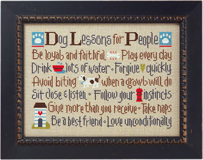 Lizzie Kate - Dog Lessons For People - Cross Stitch Pattern