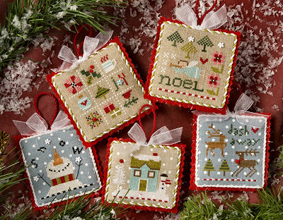 Lizzie Kate - Tiny Tidings XX-Lizzie Kate - Tiny Tidings XX, Christmas Ornaments, reindeer, snowman, home, snowing, family, Christmas,