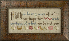 Lizzie Kate - Inspiration Boxer - Faith Is... Cross Stitch Pattern