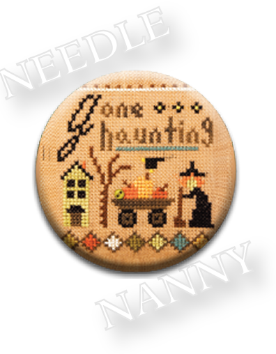 Stitch Dots - Gone Haunting Needle Nanny by Lizzie Kate-Stitch Dots - Gone Haunting Needle Nanny by Lizzie Kate, Halloween, witch, cross stitch, magnet