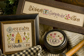 Lizzie Kate - Busy Bee Chart Pack-Lizzie Kate, Busy Bee Chartpak, Cross Stitch Patterns with Embellishments, bee hive, needle, verses,