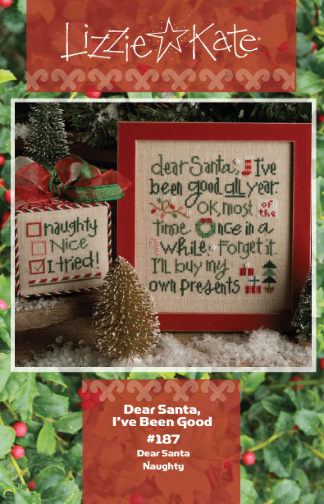 Lizzie Kate - Dear Santa, I've Been Good-Lizzie Kate - Dear Santa, Ive Been Good , Santa Claus, Christmas, holidays, cross stitch,