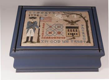 Lone Elm Lane - The Patriot-Lone Elm Lane - The Patriot, 1776, american, in God we trust, american eagle, cross stitch