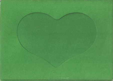 Stationary - Large Needlework Cards - Heart Opening - Christmas Green