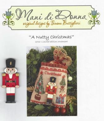 Mani di Donna - A Nutty Christmas - 2016 Limited Edition Ornament-Mani di Donna - A Nutty Christmas, nutcracker, soldier, Christmas, ornament, Christmas tree, cross stitch