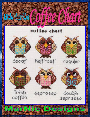MarNic Designs - Coffee Chart - Cross Stitch Pattern