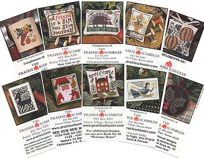 Prairie Schooler - Mini Card Collection A - Cross Stitch Patterns