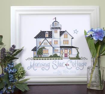 Kit & Bixby - Morning Star Cottage - Cross Stitch Pattern