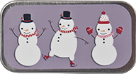 Just Nan - Snow Friends Mini Needle Slide-Just Nan - Snow Friends Mini Needle Slide, magnet, needle holder, snowman, cross stitch, accessories,