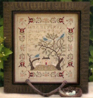 With Thy Needle & Thread - Mystery Sampler - Birds of a Feather Part 3