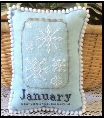 Needle Bling Designs - What's in Your Jar - Part 01 - January-Needle Bling Designs - Whats in Your Jar - January, winter, mason jar, snowflakes, cross stitch