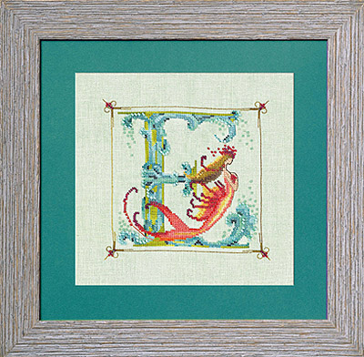 Nora Corbett - Letters From Mermaids-E - Cross Stitch Pattern
