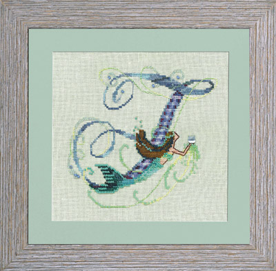 Nora Corbett - Letters From Mermaids-F - Cross Stitch Pattern