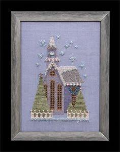 Nora Corbett - Snow Globe Village Series - Little Snowy Lavender Church