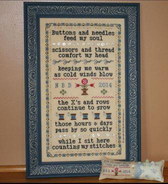 Needle Bling Designs - Stitching Comforts - Cross Stitch Pattern
