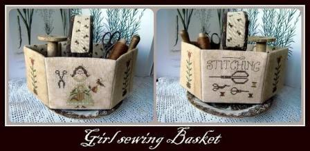 Nikyscreations - Girl with Sewing Basket-Nikyscreations - Girl with Sewing Basket, sewing, notions, Nashville, cross stitch