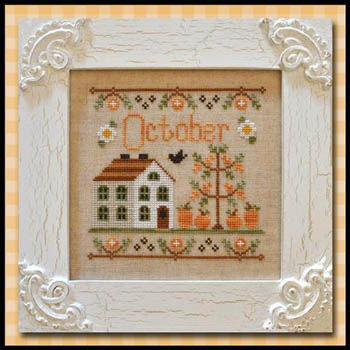 Country Cottage Needleworks - Cottage of the Month 10 - October Cottage - Cross Stitch Pattern