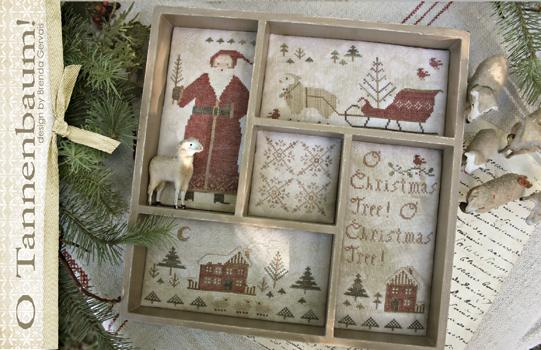 With Thy Needle & Thread - O Tannenbaum-With Thy Needle  Thread - O Tannenbaum, Christmas, Santa Claus, Christmas Tree, Cross stitch, box,