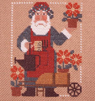 Prairie Schooler - 1993 Santa - Cross Stitch Pattern