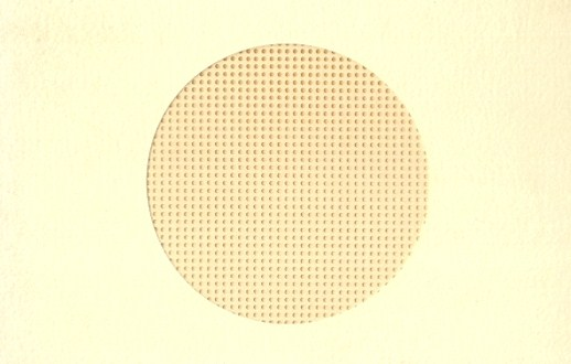 Stationary - Small Needlework Cards with Perforated Paper - Round Opening- Beige Card