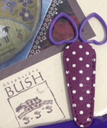 Purple Polka Dot Scissor Sheath & Little Loves Scissors
