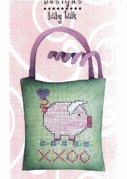 Amy Bruecken Designs - Baby Talk -This Little Piggy Sends Hugs and Kisses! Cross Stitch Pattern