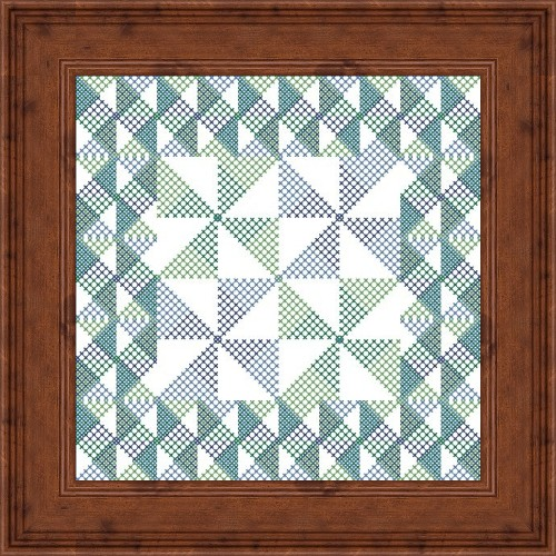 Flowers 2 Flowers - Pinwheels - Cross Stitch Chart