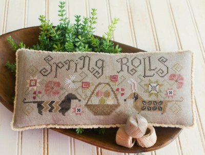 Plum Street Samplers - Spring Rolls - Cross Stitch Pattern