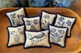 Priscilla's Pocket - Stoneware Pinpillows II - Cross Stitch Patterns