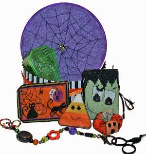 Praiseworthy Stitches - Halloween Frights Treat Box - Limited Edition Cross Stitch Kit