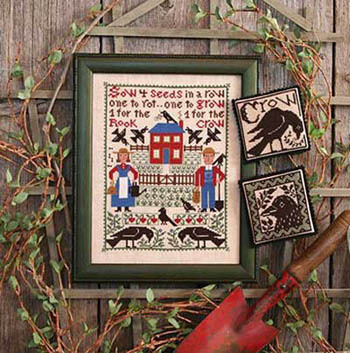 Prairie Schooler - One For The Crow - Cross Stitch Pattern