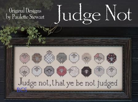 Plum Street Samplers - Judge Not-Plum Street Samplers - Judge Not, sheep, diversity, peaceful, love, different, cross stitch